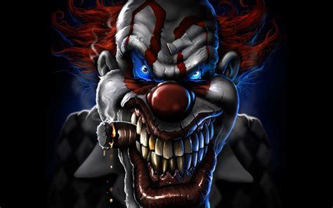 Dark Horror Evil Clown Art Artwork Wallpapers Hd