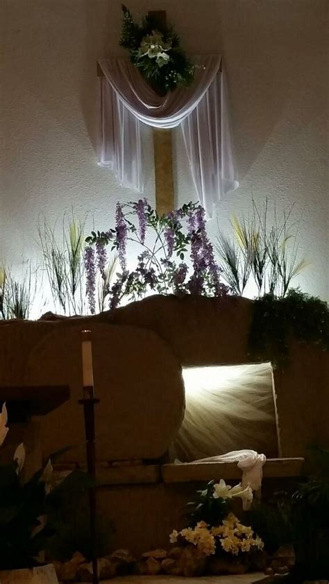Tomb lit for Easter St Rita Catholic Church Fort Worth