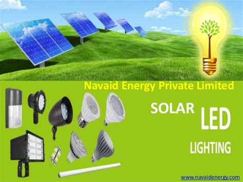 solar led lights manufacturer india navaid energy