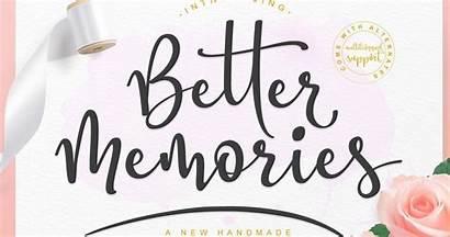 Memories Better Script Font Fonts Elegant