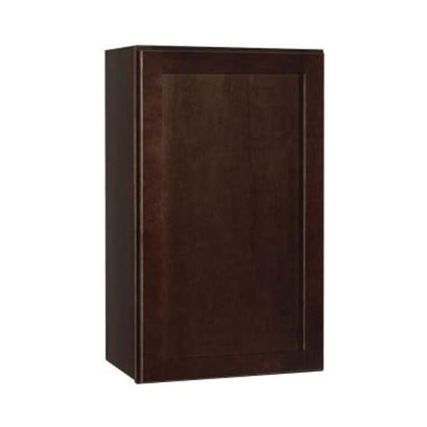 Hton Bay Cabinet Door Replacement by Hton Bay 12x30x12 In Wall Cabinet In Medium Oak Kw1230