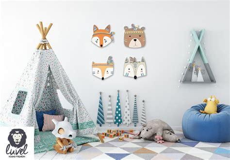 Ikea Wanddeko Kinderzimmer by Colorful Indianer Animals 3d Wanddeko F 252 R Das