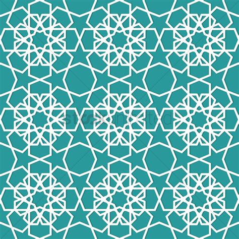 islamic geometric pattern design vector image stockunlimited