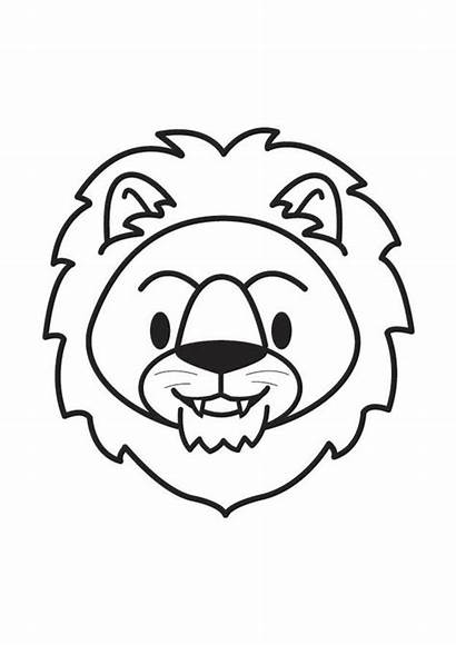 Lion Coloring Head Pages Face Printable Edupics