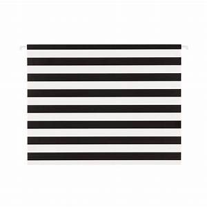Black white stripe letter size hanging file folders for White hanging file folders letter size