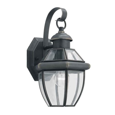 forte lighting 1 light outdoor wall lantern in royal