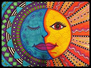 25 best ideas about mexican folk art on pinterest With charming couleur chaudes et froides 7 what color to paint the sun what color to paint the moon