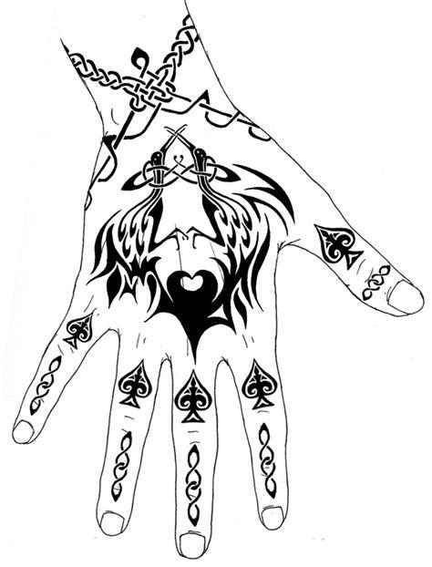 THE BLACK TATTOOS: Hand Tattoo