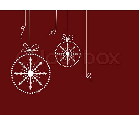 christmas baubles  maroon background stock vector