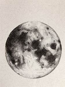 Moon, Ink Drawing, Original Drawing, Illustration ...