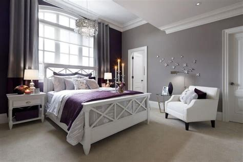 beautiful bedrooms  white furniture purple