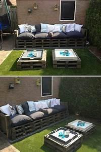 Massive Holzbank Für Draußen : pallet furniture para la terraza pinterest paletten m bel f r drau en m bel und sofa ~ Frokenaadalensverden.com Haus und Dekorationen