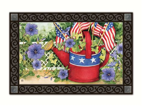 matmates interchangeable doormats patriotic watering can matmate interchangeable doormat