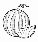 Watermelon Coloring Fresh Sheets Fruit Printable Colouring Fruits Crafts Clip Drawing Slice Triangle Coloringpagesfortoddlers Sweet Basket Manga sketch template