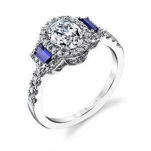 Diamond rings with sapphire accents wedding promise for Wedding ring sets with sapphire accents