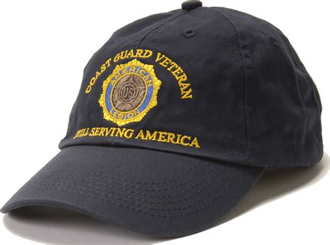 coast guard veteran emblem cap american legion flag emblem