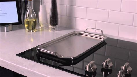 ge cafe electric cooktops stainless steel griddle youtube