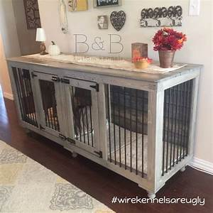 Best 25 dog crate furniture ideas that you will like on for How to make a wooden dog crate