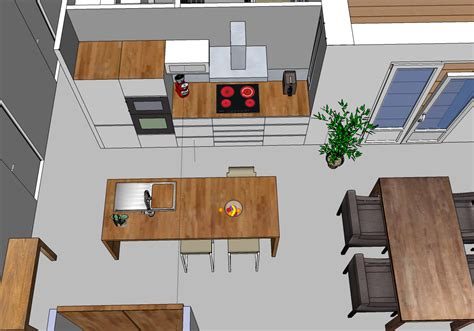 deco salon cuisine americaine supérieur idee de cuisine avec ilot central 7 salon