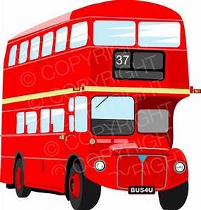 Red London Double Decker Bus Prawny Transport Clip Art ...