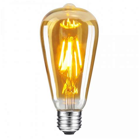 st pear shape filament led bulb  watt industrial