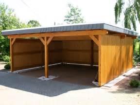 Wood Carport Ideas in the Back Yard