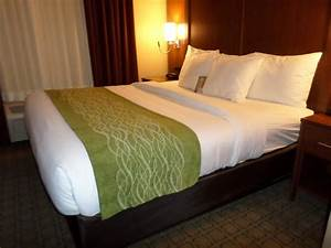 Comfort suites lodging room bed picture of comfort for Comfort inn mattress brand