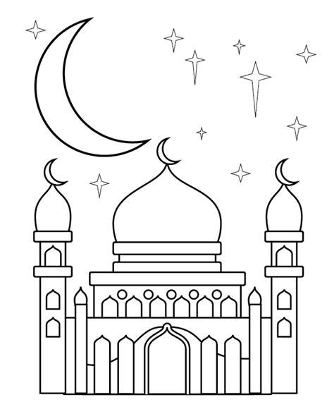 mewarnai gambar masjid anak tk