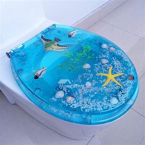Blue Fancy Luxury Decorative Resin Elongated Slow Close