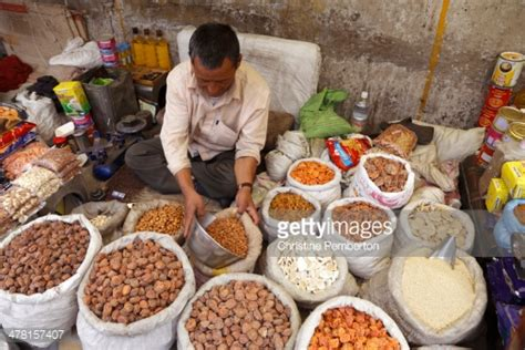 ladakh cuisine selling nuts dried fruits and dried yak cheese in leh