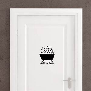 sticker porte quotsalle de bainquot bain bulles stickers With autocollant porte douche