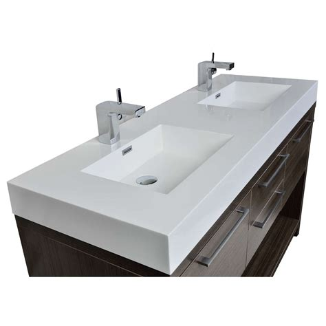 buy lodi 57 inch contemporary sink vanity in grey