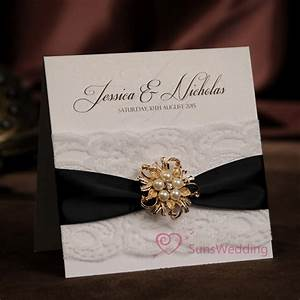 aliexpresscom buy rhinestone brooch white lace wedding With wedding invitations with ribbon and brooch