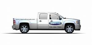 vehicle graphics signcraft huntsville parry sound With truck lettering