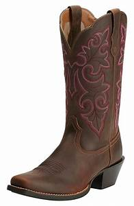 Ariat Womens Round Up Square Toe Cowboy Boots - Powder Brown