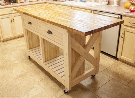 how to build a movable kitchen island white kitchen island with butcher block top