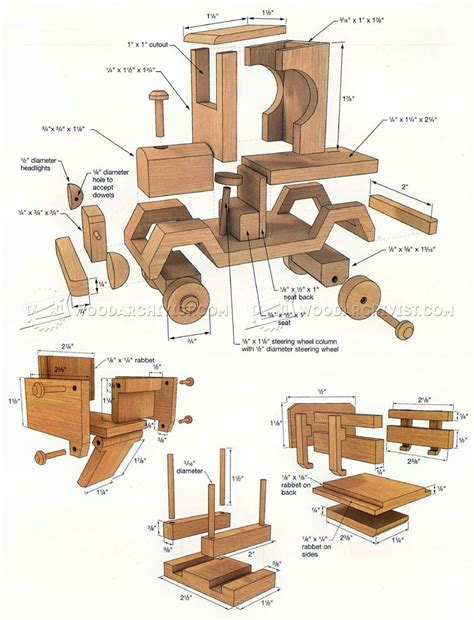 wooden toy truck plans woodarchivist