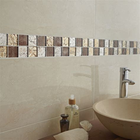mosaique autocollante cuisine mosaïque mur glass select mix marron leroy merlin