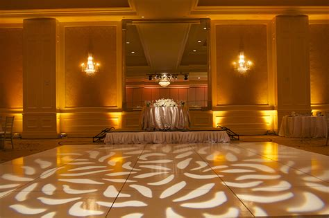 gobo pattern wash las vegas los angeles san diego wedding
