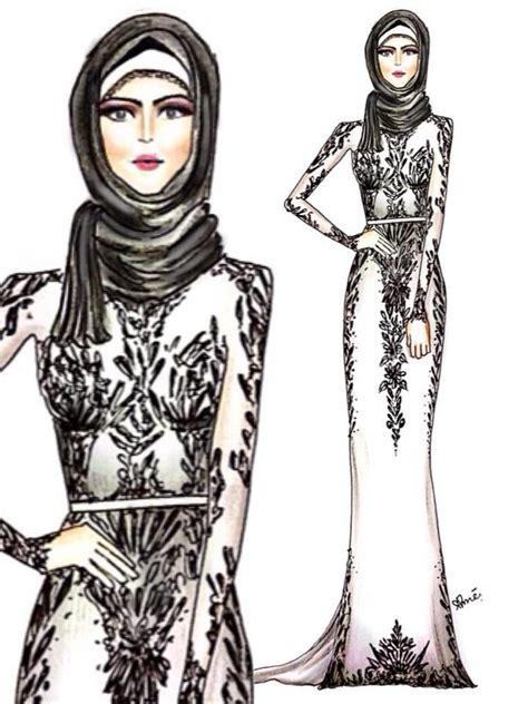 hijab drawings images  pinterest hijab