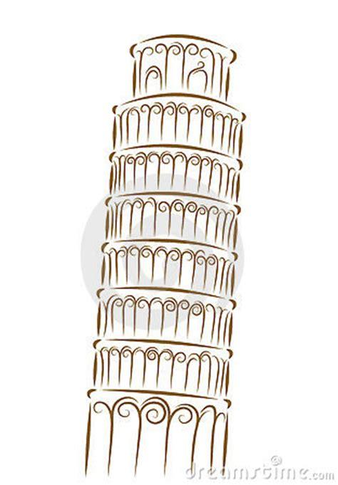 toren van pisa tekening toren van pisa royalty vrije stock fotografie beeld