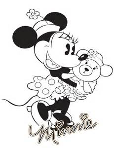 Classic Minnie Mouse Coloring Pages