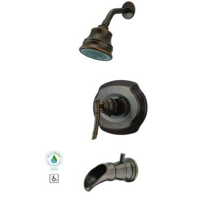 pegasus bamboo 1 handle 3 spray tub and shower faucet in