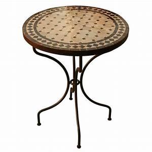 Tables Rondes De Jardin : table jardin marocain zellige pas cher mosaique ceramique ~ Premium-room.com Idées de Décoration