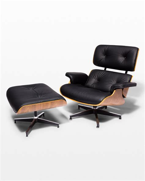 Eames Style Lounge Chair And Ottoman by Ch587 Black Eames Style Lounge Chair And Ottoman Prop
