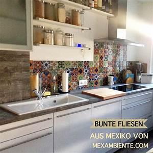 Mexikanische Fliesen Küche : bunte fliesen f r die k che mexikanische fliesen mit ~ Lizthompson.info Haus und Dekorationen