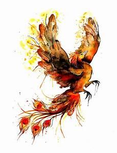 watercolor phoenix | Tattoos | Pinterest | Beautiful, Ash ...