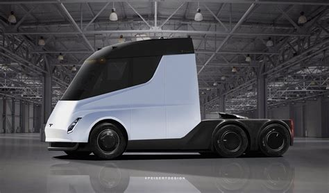 tesla truck tesla semi truck with crew cabin brought to life in latest