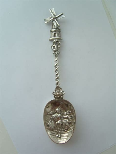lovely silver dutch import windmill spoon
