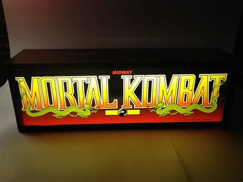 arcade marquee light box mortal kombat arcade marquee lightbox completed projects